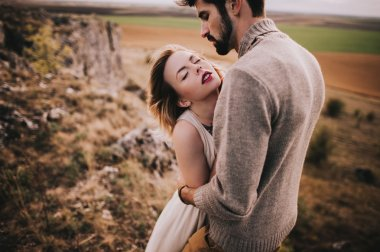 Passionate young couple