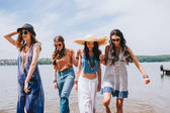 Photo four beautiful girls