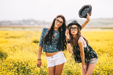 two beautiful hippie girls