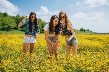 3 beautiful hippie girls