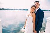 Fotografie Happy bride and groom