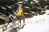 Fotografie sports girl cyclist