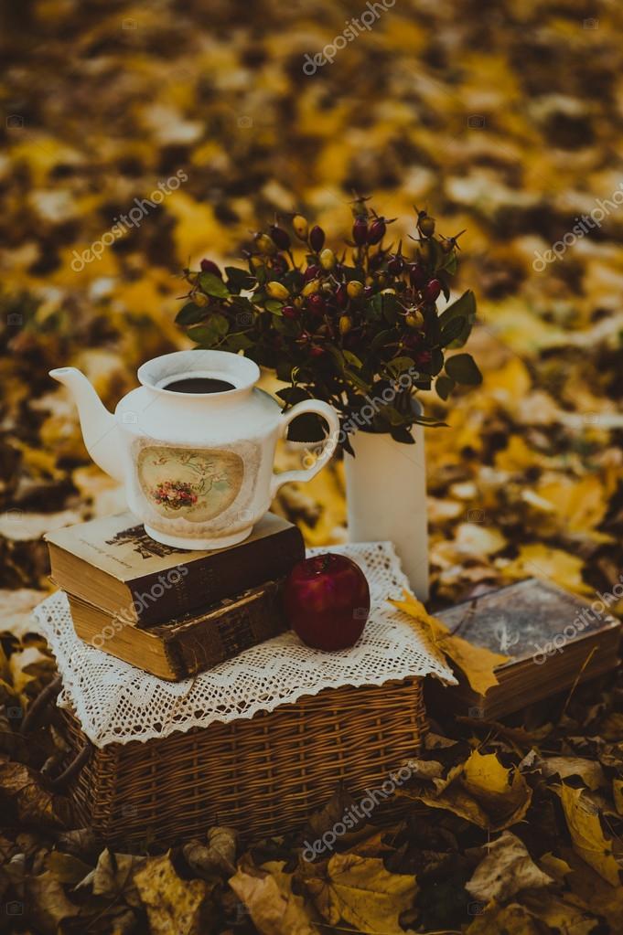 Autumn decor outdoors