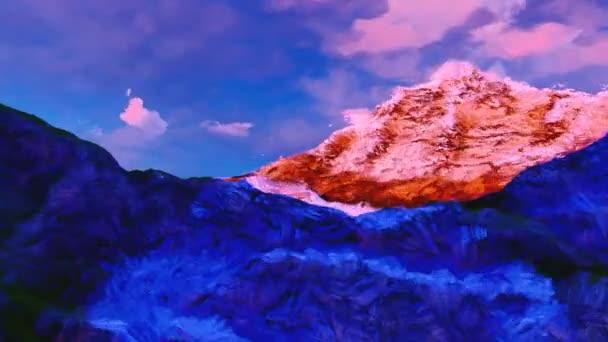 Hory vymaloval malíř akvarel