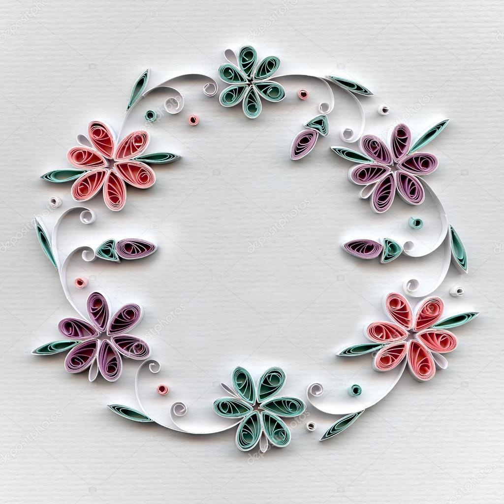 Quilling Paper Flowers Stock Photo Kosmomarvelail 118599278