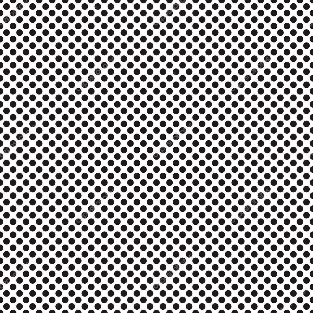 609c163eac174 Eine mittelgroße gepunktete Textur - schwarz   weiß Vektormuster — Vektor  von ...