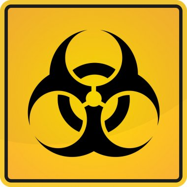 Biohazard Sign, Biohazard Sign Vector. in yellow and black colors
