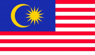original and simple Malaysia flag isolated vector in official colors and Proportion Correctly