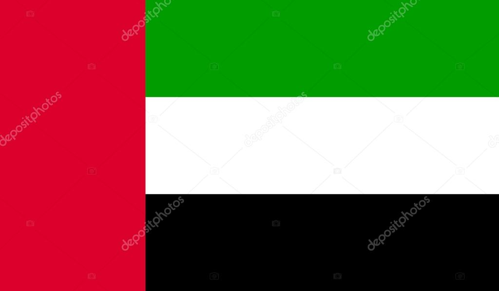 United Arab Emirates Flag Uae Flag Official Colors And