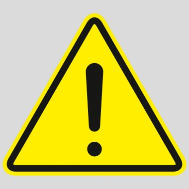 Hazard warning attention sign with exclamation mark symbol. vector illustration on white background