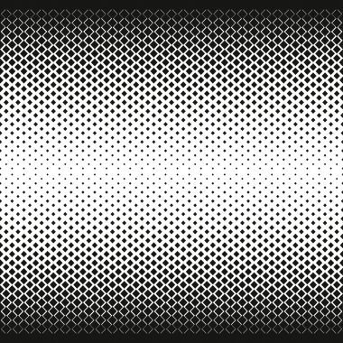 Gradient of rhombus diamonds . Halftone effect. Repeating background texture. Vector illustration.