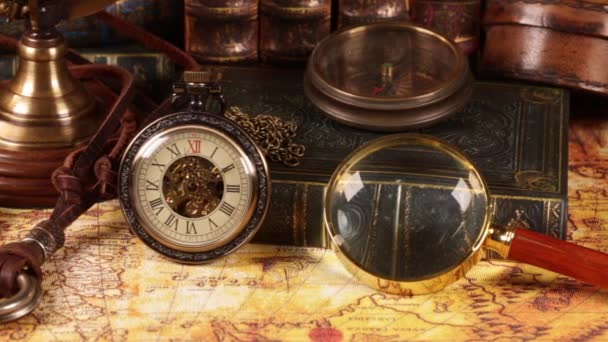 Vintage órák, a térképet. 1565-ben, a régi világ Térkép.