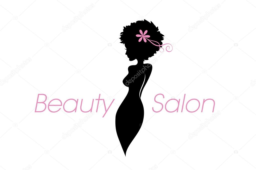 Curvy Woman Body Silhouette. Vector Beauty, Fashion, Salon