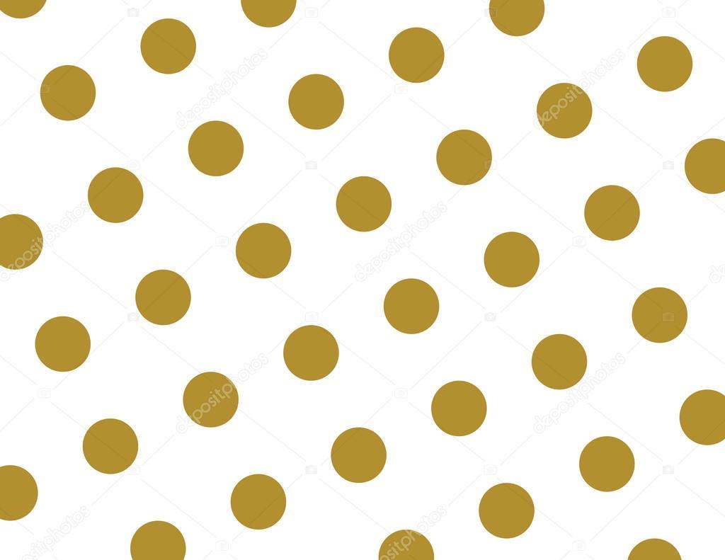 Naadloze polka dots wallpaper achtergrond in goud en wit for Fondo de pantalla lunares