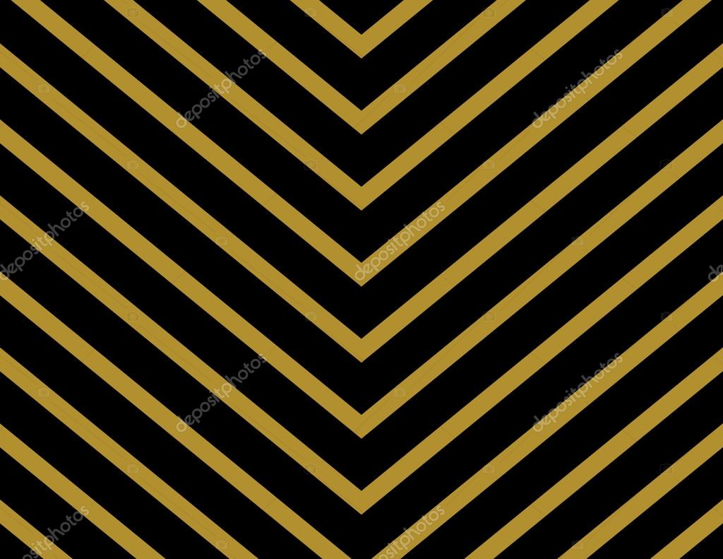 Seamless Stripes Chevron Wallpaper Background In Gold And Black Classic Fashion Vector Backdrop