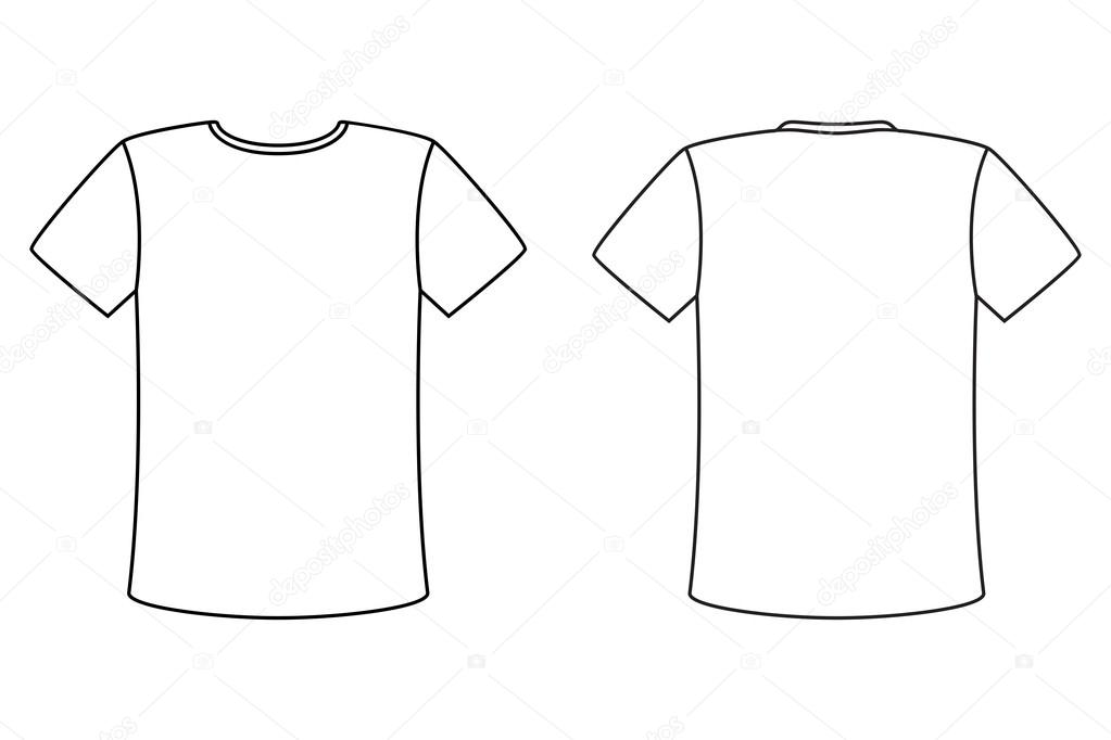 Blank t shirt vector design template simple front and for Blank t shirt design template