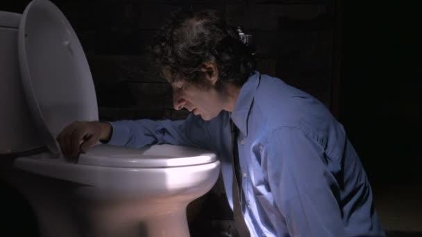 Nyomja az ember érzése, a beteg, vagy depressziós, míg a ferde ellen a WC-vel