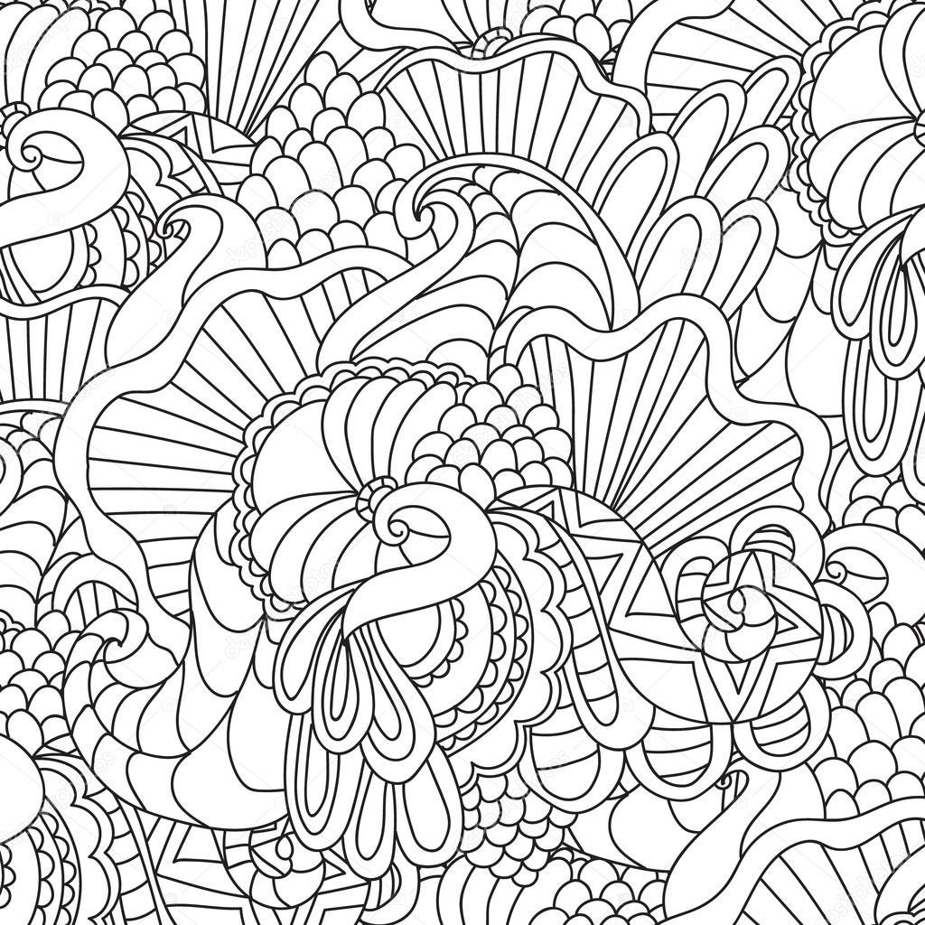 Kleurplaten Voor Volwassenen Decoratieve Hand Getrokken Doodle