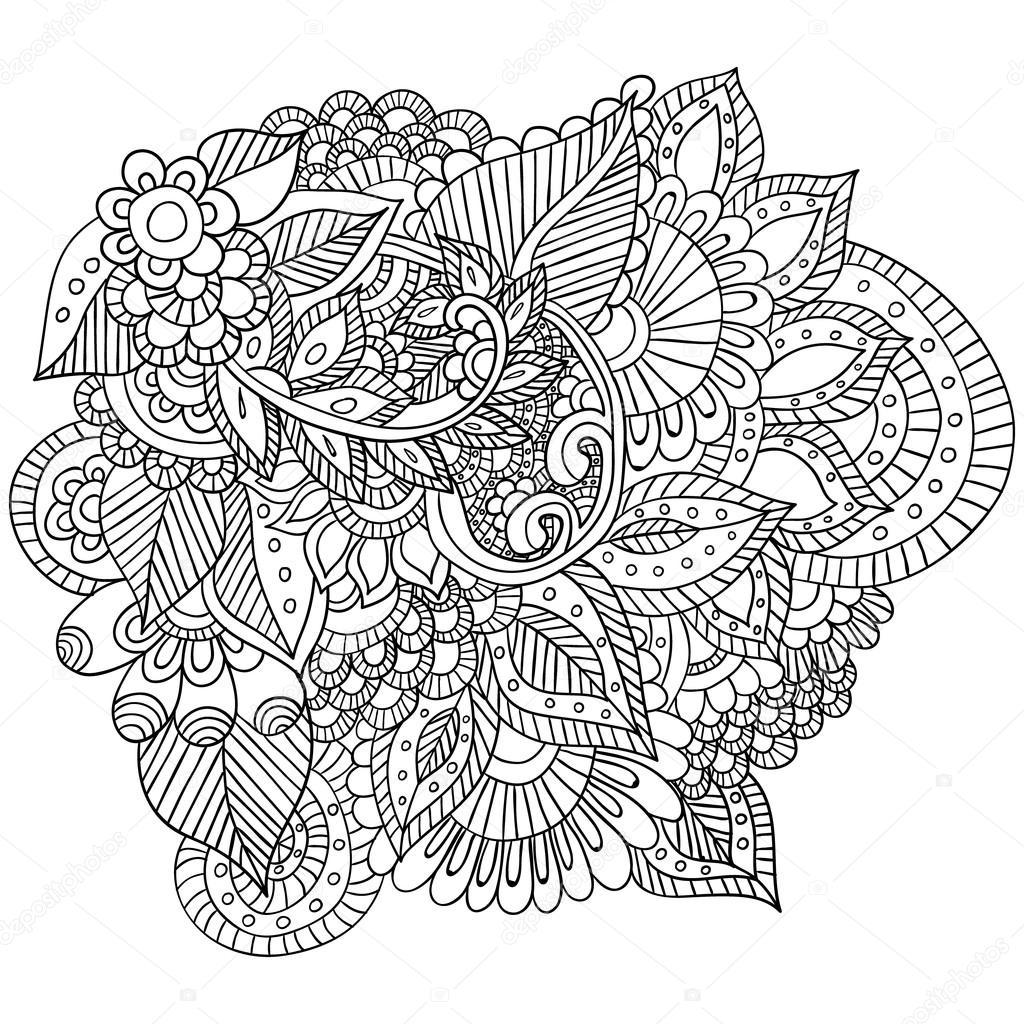 Imagenes Zentangle Flores Dibujado A Mano Zentangle Flores Y