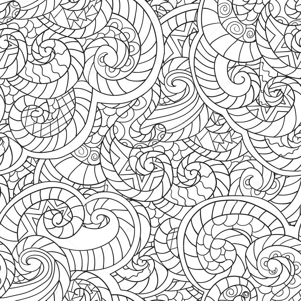 Disegni Da Colorare Per Adulti Seamless Pattern Di Reticolo Di