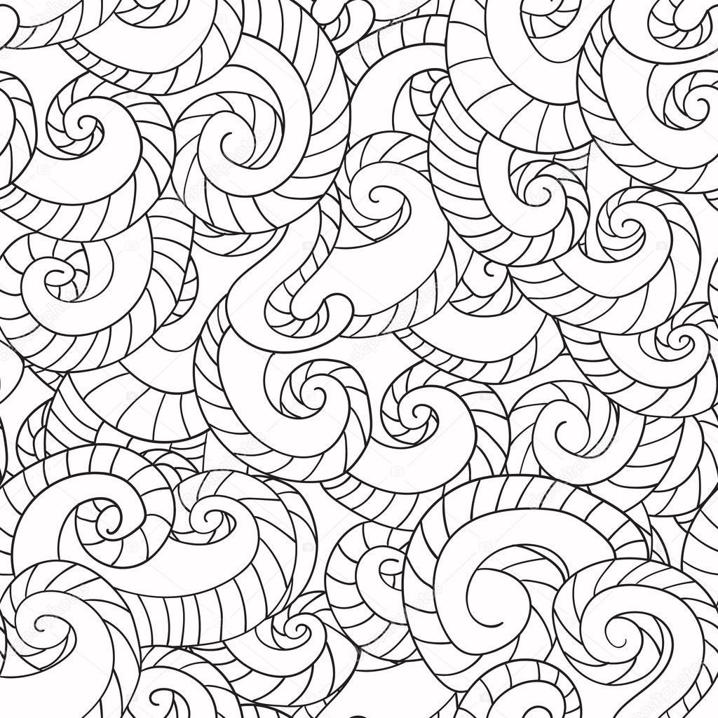 kleurplaten voor volwassenen patroon de golven
