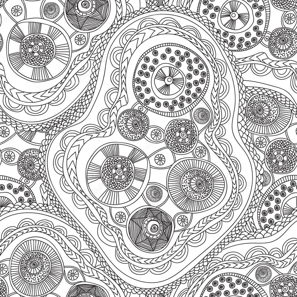 Dibujos para colorear libro de adultos. Sin fisuras patrón abstracto ...