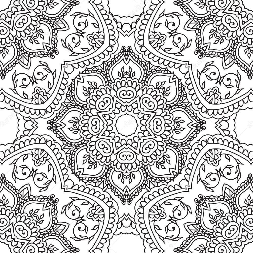 Pages A Colorier Pour Les Adultes Main Decorative Doodle Dessine