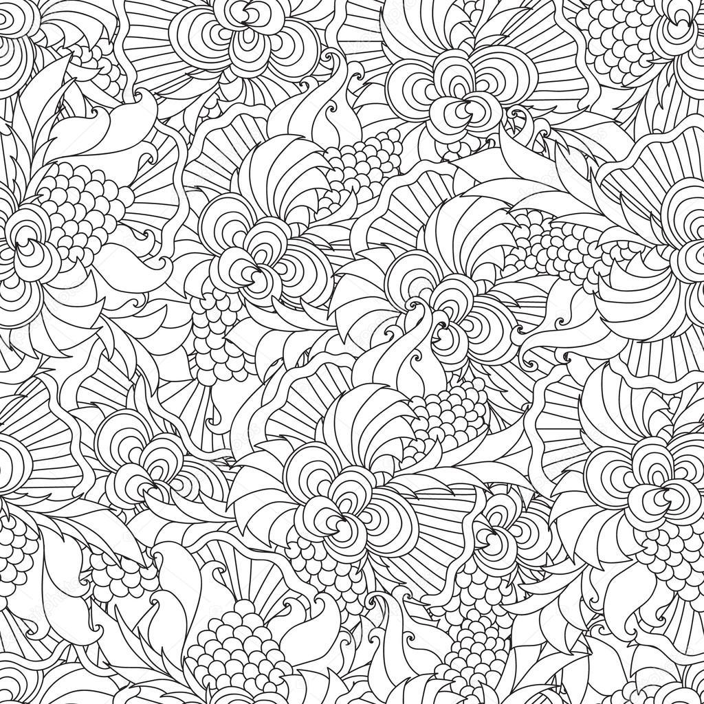 Disegni da colorare per adulti decorativo a mano doodle for Disegni da colorare per adulti paesaggi
