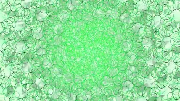 Zelené pozadí geometrické kruhová smyčka