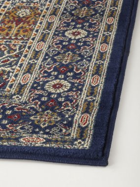 Oriental rug with floral geometric abstract ornament