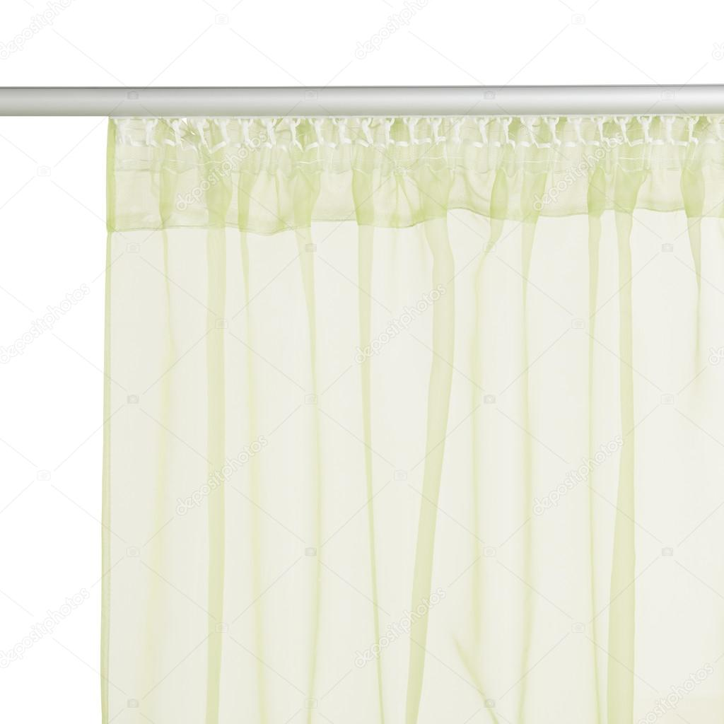 Fragment Du Rideau Lumineux Organza Translucide Vert Avec Monture