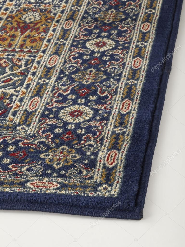 Oriental Rug With Floral Geometric Abstract Ornament Stock