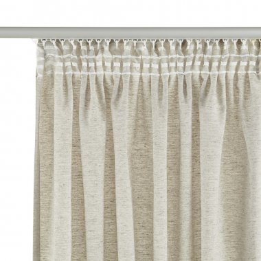 Grey curtain with mount