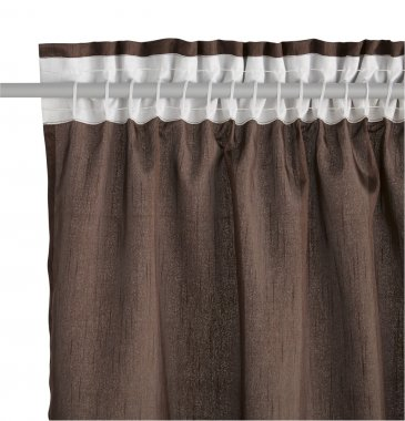 Brown curtain with mount