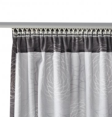 Grey curtain with mount.