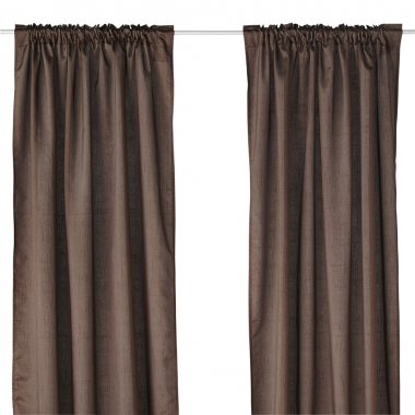 Classic brown curtain.