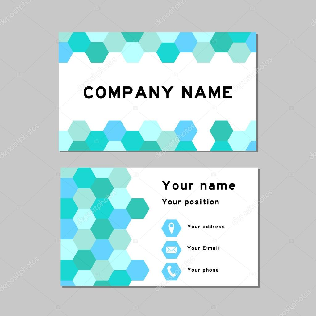 Business card temple (Pastel blue) — Stock Vector © thaneeh.gmail ...