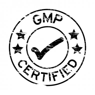 Grunged stamp with GMP certified