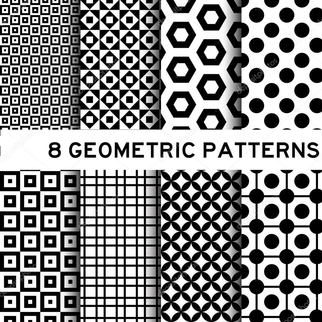 Disegni Geometrici Bianco E Nero 8 black and white geometric pattern — stock vector © thaneeh