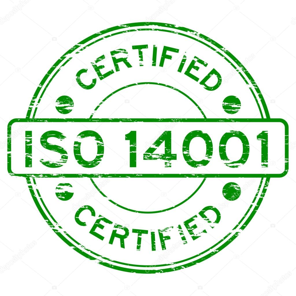 Grunged ISO14001 Certified Stamp Stock Vector