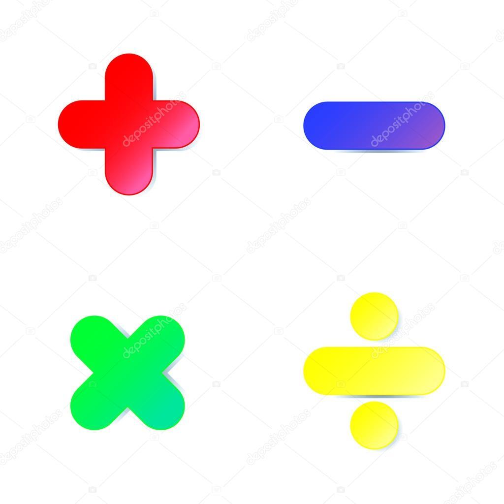 Imagenes Signos Matematicos Animados A Color Simbolo De
