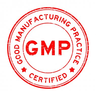 Grunge red GMP certified rubber stamp