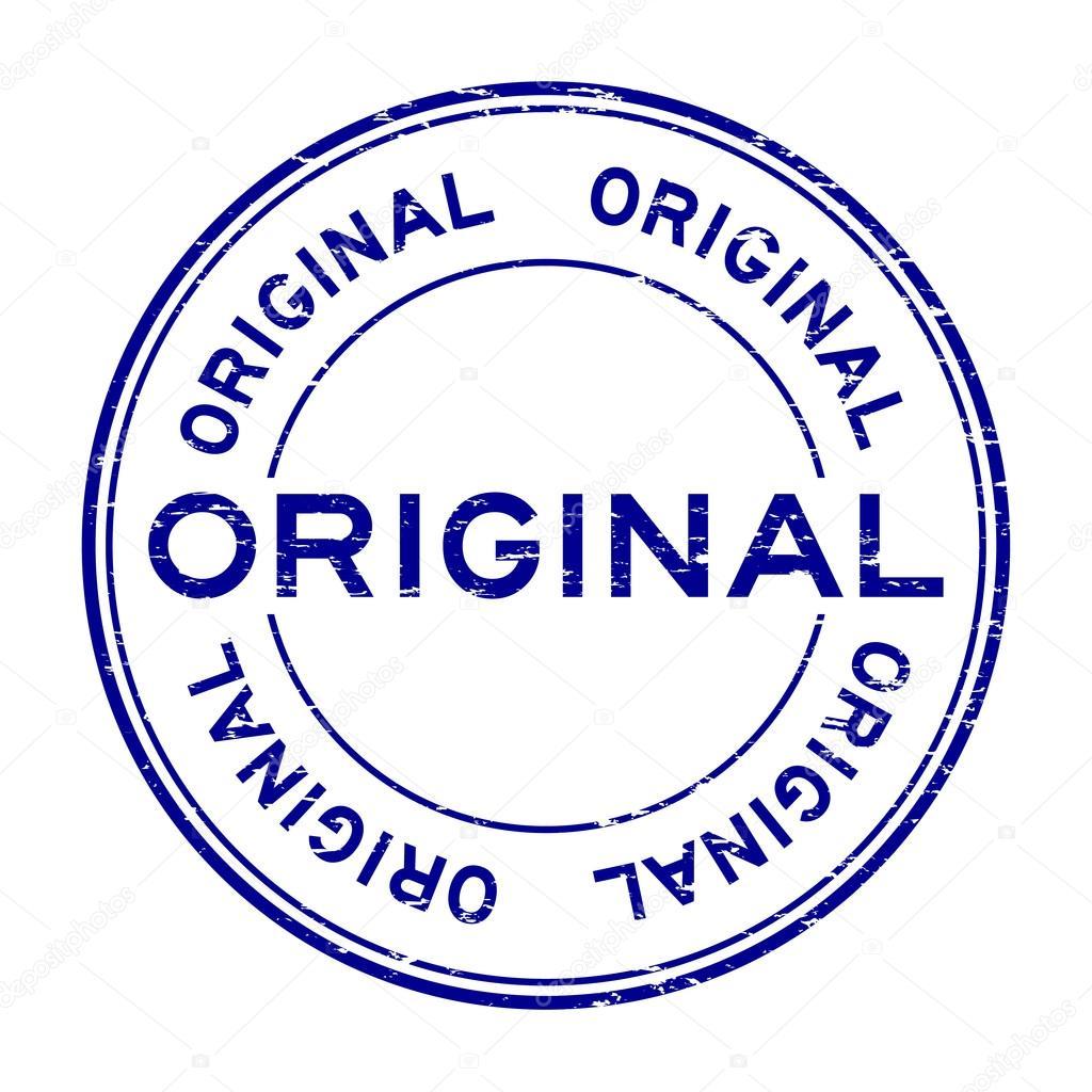 brand new 25cfe 7c153 Grunge blue original rubber stamp — Stock Vector
