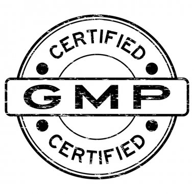 Grunge black GMP (Good Manufacturing Practice) certified rubber