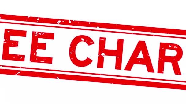 Grunge red free word square rubber seal stamp zoom auf weißem Hintergrund