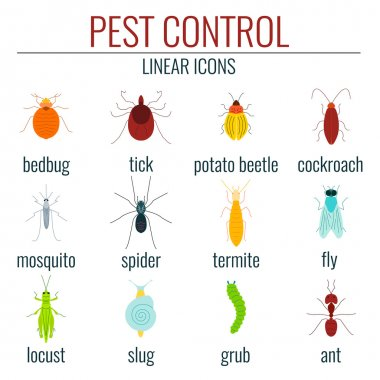 Pest control colored set