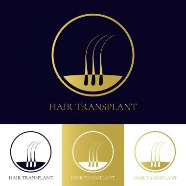 Hair transplant logo template