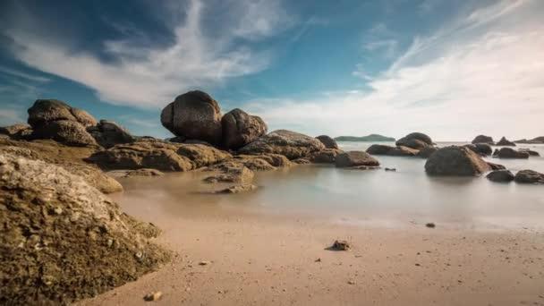 phuket ostrov léto den pláž nebe panorama 4k čas lapse thailand