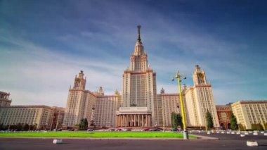 03111bbc Солнечный день известный Московский государственный университет 4 k время  ...
