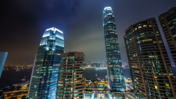Ufficio K : Notte di hong kong cina luce ufficio grattacieli baia mostra